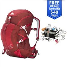 Gregory Jade 28 Lava Red - Medium  is a lightweight pack offers a host of technical features designed to improve your comfort.