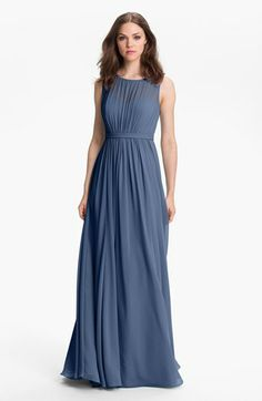Jenny Yoo 'Vivienne' Pleated Chiffon Gown | Nordstrom - this is the dress & color - Bridesmaids etc