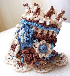 Crochet cuff Beaded crochet cuff Crochet by KSZCrochetTreasures