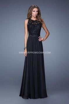 Long Sleeveless Open Back Prom Gown by La Femme 20638 Black