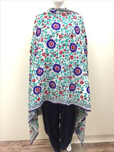 Hand Embroidered Phulkari Dupatta shop in store or online www.pinkphulkari.com 1128 E. 6th St #7 Corona CA 92879