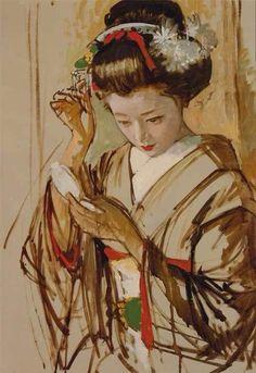 Ryohei Koiso(小磯良平 1903ー1988)「Geisha」