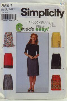 Simplicity 8664 Misses' Skirt
