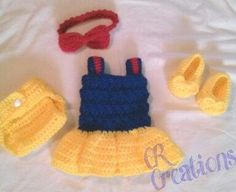 Looking for your next project? You're going to love Newborn Snow White Complete Outfit by designer mcjtfamil3138522.
