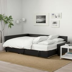 FRIHETEN Sleeper sectional,3 seat w/storage - Bomstad black - IKEA