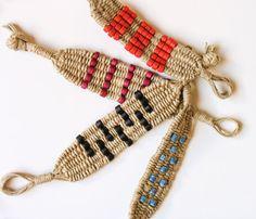 Beaded Woven Bracelet Native style Bracelet by myTotalHandMade