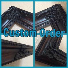 Custom order hand painted framed cork board by IlyCustomCreations