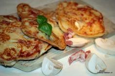 Drie in de pan. Mini pannenkoeken met verschillende vullingen