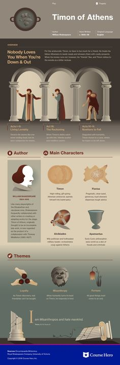 This infographic on Timon of Athens is both visually stunning and informative!
