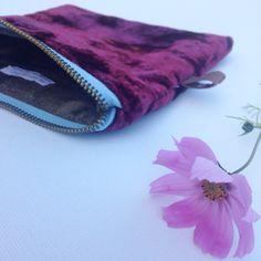 Velvet handmade pouch by ittakestwostudio