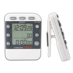 Cooking Three-Channel Electronic Timer Countdown Clock Memory Function +Buckle