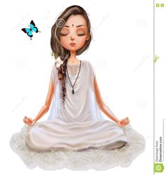 Photo about Cute cartoon girl in yoga lotus pose. Illustration of india, cute, c… Photo about Cute cartoon girl in yoga lotus pose. Illustration of. Yoga Cartoon, Cartoon Memes, Yoga Illustration, Cute Cartoon Girl, Cartoon Photo, Lotus Pose, Yoga Art, Girls Image, Yoga Meditation