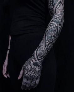 Henna Sleeve by @savannahcolleen at @inkanddaggertattoo in Roswell Georgia. #ornamentaltattoo #mehnditattoo #mehndi #henna #hennatattoo #blackwork #blackworkers #blackworktattoo #savannahcolleen #inkanddagger #inkanddaggertattoo #roswell #georgia #tattoo #tattoos #tattoosnob