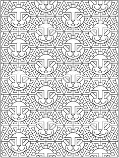 Welcome To Dover Publications Creative Haven Wild Techellations Coloring Book By John Wik And Pic