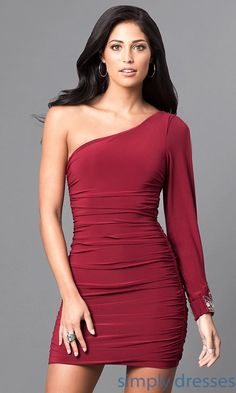 short red semi formal dresses