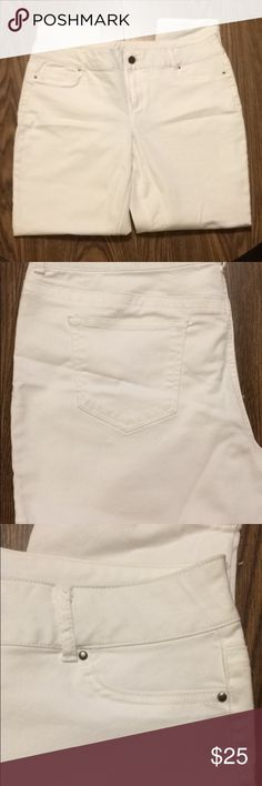 Maurices White Pants Barely used, excellent condition. Size XL. Maurices Pants