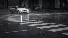 улица, bmw m3, дождь, автомобиль, машина