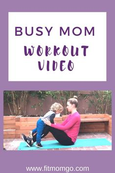 Busy Mom Workout Video with Personal Trainer Erin Kendall Post Pregnancy Workout, Mommy Workout, Fitness Tips, Fitness Motivation, How To Stay Healthy, Healthy Moms, At Home Workouts, Cardio Workouts, Strength Workout