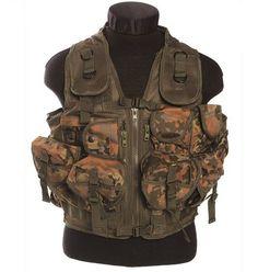 Mil-Tec Einsatzweste Tactical, 9-Taschen, flecktarn / mehr Infos auf: www.Guntia-Militaria-Shop.de
