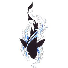 shark and water tattoo Hai Tattoos, Body Art Tattoos, Sleeve Tattoos, Tatoos, Water Tattoos, Whale Shark Tattoo, Tribal Shark Tattoos, Tribal Hai, Tribal Style