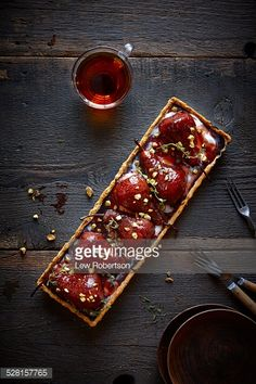 Food Rings Ideas & Inspirations 2017 - DISCOVER Poached pear tart by Lew Robertson Photography Fashion Fields Forever Discovred by : Claire Gorvan Tart Recipes, Sweet Recipes, Cooking Recipes, Sweet Pie, Sweet Tarts, Köstliche Desserts, Dessert Recipes, Food Inspiration, Food Photography