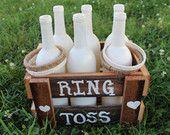Rustieke Ring Toss spel, jute, lace, geregenereerde schuur hout, rustieke bruiloft, bruiloft receptie, bruiloft kinderen game, childrens spel, childrens activiteit