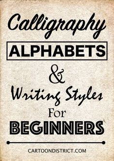 There is no dearth of Calligraphy Alphabets and Writing Styles for Beginners that you can try your hands at without doubts and apprehensions. If you want to dig deeper, then here are some Calligraphy Alphabets for Beginners that you can check out. How To Write Calligraphy, Calligraphy Handwriting, Calligraphy Pens, Penmanship, Calligraphy Alphabet Tutorial, Calligraphy Writing Alphabet, Easy Caligraphy, Easy Fonts To Write, Calligraphy Writing Styles