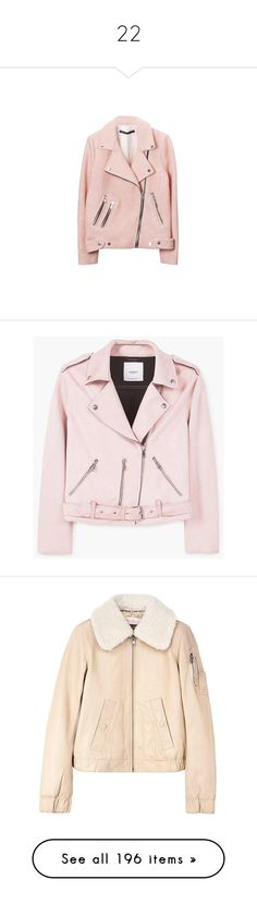 """""""22"""" by songjieun ❤ liked on Polyvore featuring outerwear, jackets, tops, coats & jackets, pink jacket, kurtki, cropped biker jacket, pink biker jacket, pink moto jackets and biker jackets"""