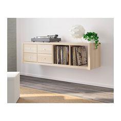 KALLAX Shelving unit with 2 inserts  - IKEA