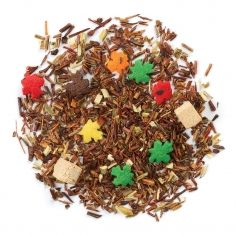 Oh Canada! red rooibos tea sweetened with maple syrup and sprinkled with delicious maple leaf candies. With green rooibos, honeybush, caramel and toffee bits (DavidsTea) Davids Tea, Caramel Bits, Toffee Bits, Red Rooibos Tea, Caffeine Free Tea, Types Of Tea, Loose Leaf Tea, Tea Party, Tea Cups