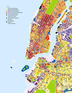 Land Use Map of part of New York City. #landuse #cityplanning #NewYorkCityMaps