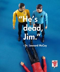 """""""Damnit Jim, I'm a doctor not a miracle worker."""" Star Trek Action Figures -- I NEED these!"""