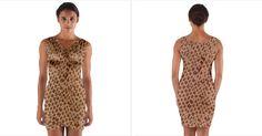 Giraffe Pattern Animal Print Wrap Front Bodycon Dress