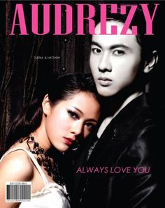Natthew and Tubtim acted like a drama scene on cover.