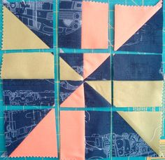 Sew a disappearing pinwheel quilt block. Sew it, cut it and sew it again for a new surprise quilt block. Easy and quick! Pinwheel Quilt Pattern, Quilt Block Patterns, Pattern Blocks, Quilt Blocks, Pinwheel Tutorial, Quilting Tutorials, Quilting Projects, Quilting Tips, Sewing Projects
