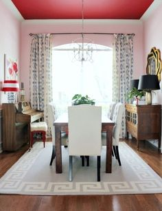Showstopper by Sherwin Williams (ceiling) and Verbena by Sherwin Williams (walls) | How 14 Popular Paint Colors Look In Actual Rooms