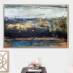 Earth tones Paintings – Trend Gallery Art | Original Abstract Paintings Green Paintings, Blue Painting, Mural Painting, Colorful Paintings, Nature Paintings, Acrylic Painting Canvas, Contemporary Paintings, Landscape Artwork, Abstract Art