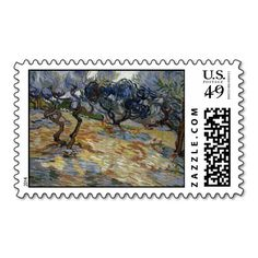 Olive Trees by Vincent Van Gogh Postage
