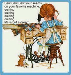 Sew, Sew, Sew your seams...