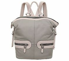 orYANY Pebbled Leather Holly Color-Block Backpack