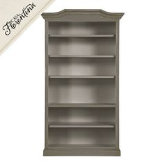 "Josephina Bonnet Top Bookcase with Shelves Large 7'h x 6'w. X 18"" d. $1700.  Ballard"