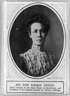 Den 24 maj 1919.  Kvinnlig rösträtt i Sverige.  1919 Women's suffrage in Sweden.