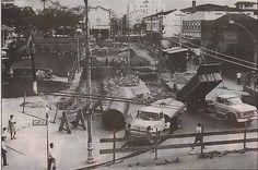 O Rio de Janeiro de Antigamente: MEIER construção do viaduto do Meier