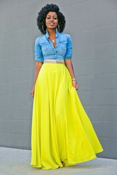 Outfit Details: Shirt (H&M-old): Similar here or here Maxi Skirt Style, Maxi Skirt Outfits, Maxi Skirts, Modest Outfits, Long Skirts, Jean Skirts, Modest Clothing, Work Fashion, Modest Fashion