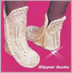 Slipper CROCHET Pattern  Boot PATTERN  boot by GrandmaHadItGoinOn