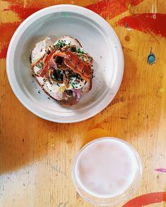 Smørrebrød - typical danish food  . . . . . .  #food #foodporn #beer #yummy #copenhagen #denmark #eat #travel #travelphotography #visitcopenaghen #vsco #vscocam