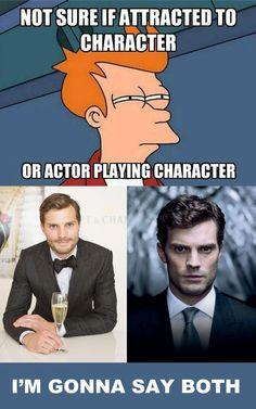 @lilyslibrary #dilemma #bookboyfriend #celebritycrush Christian Grey or Jamie Dornan? I'm gonna say both...