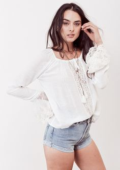 Aria Lace Bell Sleeve Top