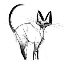 dailycatdrawings:  305: Siamese Cat Sketch