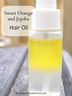 Sweet orange and jojoba hair oil... this stuff is magical and super easy to make!